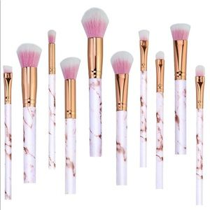 Other - ✨HP ✨ 10 piece Pink Marble Makeup Brush Set